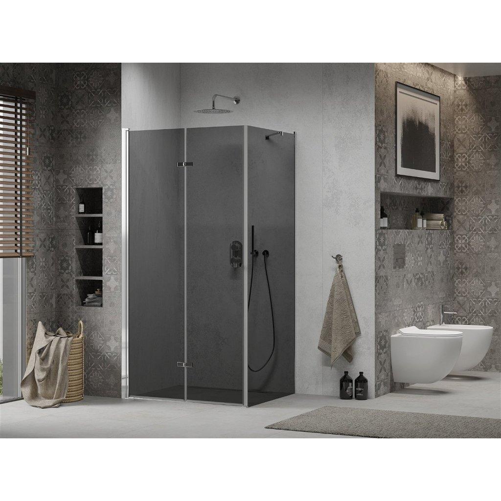 Mexen Lima sprchový kout 70x100cm, 6mm sklo, chromový profil-šedé sklo, 856-070-100-01-40