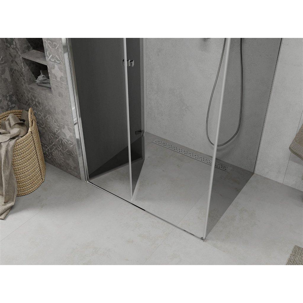 Mexen Lima sprchový kout 80x120cm, 6mm sklo, chromový profil-šedé sklo, 856-080-120-01-40