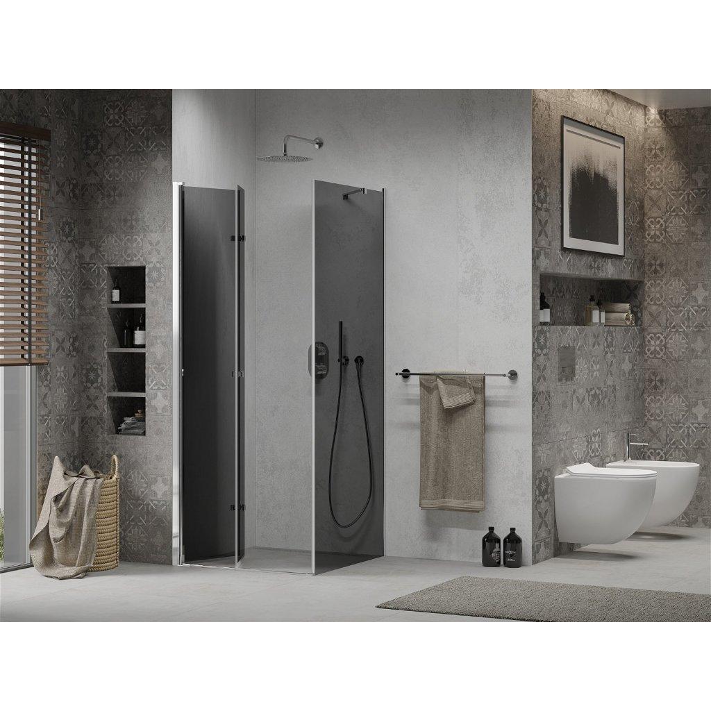 Mexen Lima sprchový kout 90x90cm, 6mm sklo, chromový profil-šedé sklo, 856-090-090-01-40