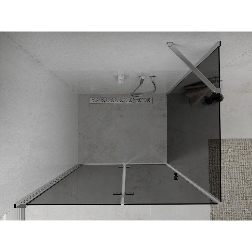 Mexen Lima sprchový kout 90x120cm, 6mm sklo, chromový profil-šedé sklo, 856-090-120-01-40