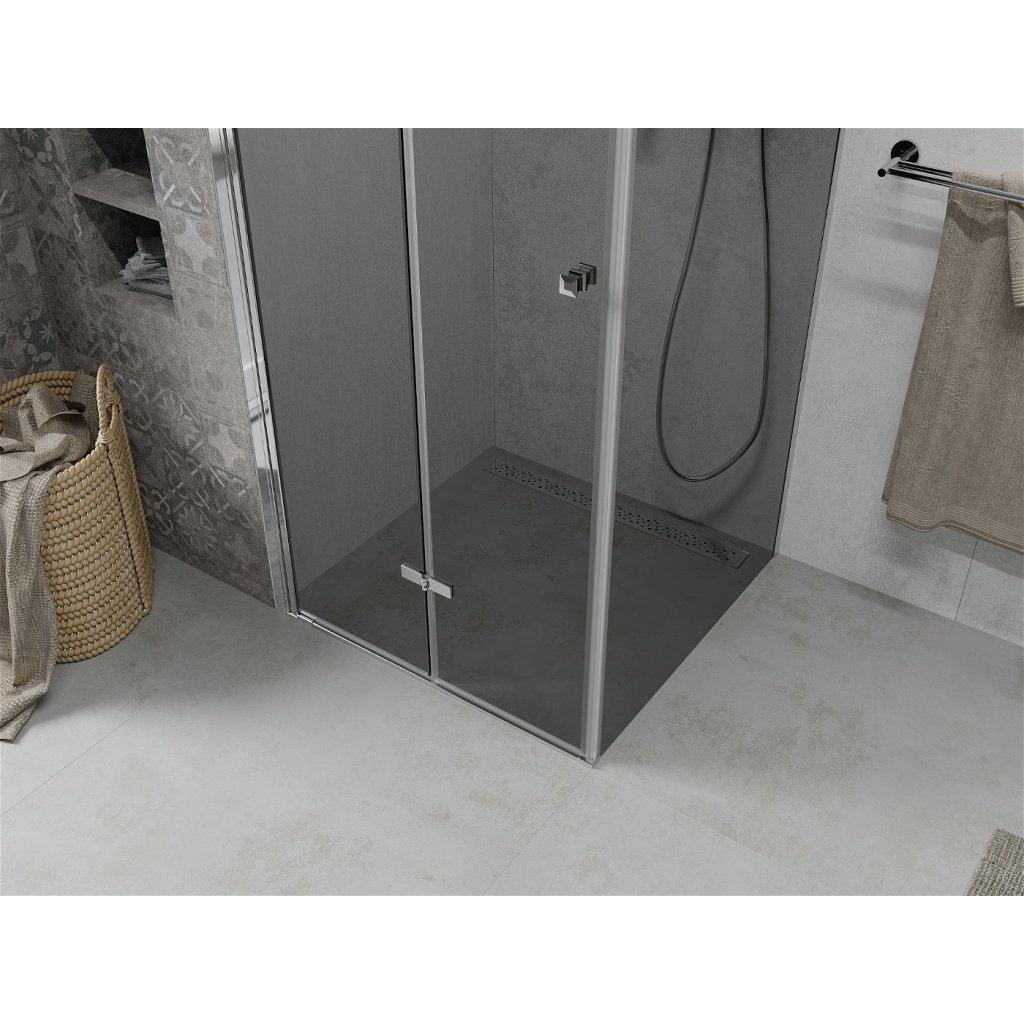 Mexen Lima sprchový kout 100x100cm, 6mm sklo, chromový profil-šedé sklo, 856-100-100-01-40