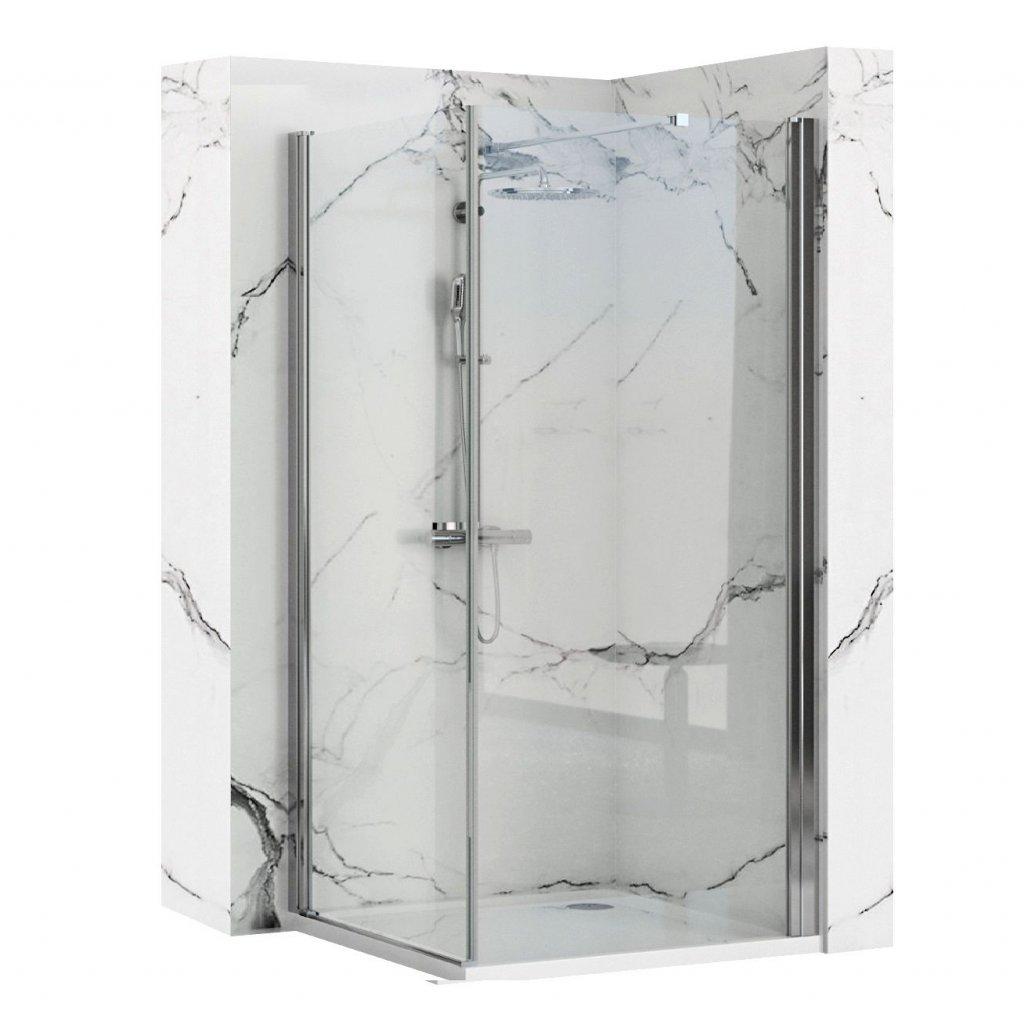Rea - MAXIM rohový čtvercový sprchový kout 90 x 90 cm, pravý, sklo čiré, REA-K0267