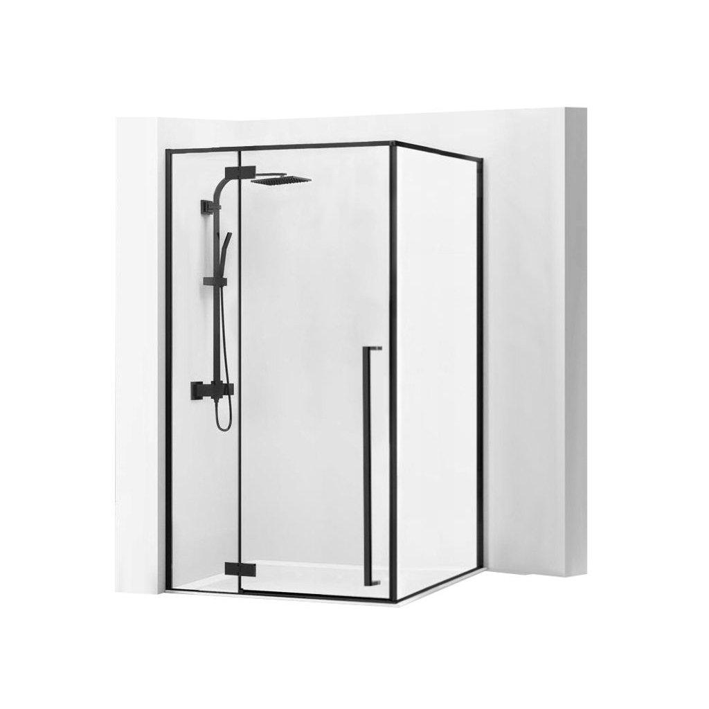 Rea - FARGO sprchový kout 90 x 120 x 195 cm, černý profil / čiré sklo, REA-K3214