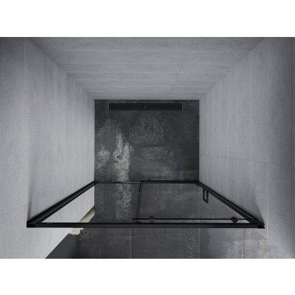 Mexen APIA sprchové posuvné dveře do otvoru 115cm, černá, 845-115-000-70-00