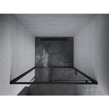 Mexen APIA sprchové posuvné dveře do otvoru 140 cm, černá, 845-140-000-70-00