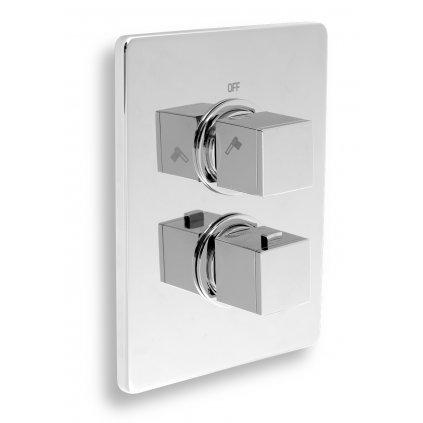 Novaservis Aquasave - Podomítková sprchová termostatická baterie 2-cestný ventil, chrom, 2850R, 0