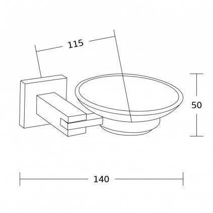 Mexen příslušenství, VANE držák na mýdlo, chrom, 7020939-00