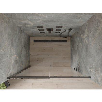 Mexen OMEGA posuvné sprchové dveře do otvoru 160 cm, černá-transparentní, 825-160-000-70-00