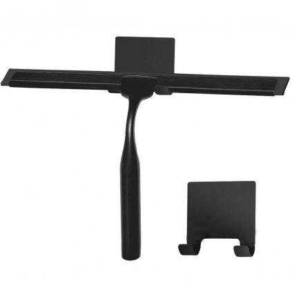 Rea příslušenství, Stěrka do sprchového koutu s držákem YZ-G04, černá, REA-70001