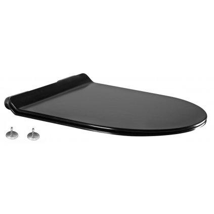 WC sedátko SLIM DUROPLAST na wc mísu LENA RICO SOFIA CARMEN (804) | soft-close, černá, 39010185