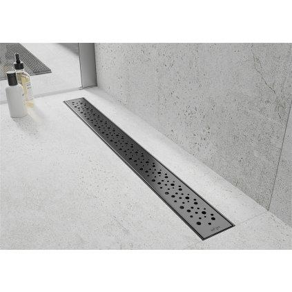 Mexen M12 kryt na nerezový žlab 100 cm, černá, 1721100