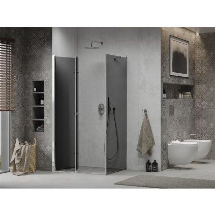 Mexen Lima sprchový kout 80x100cm, 6mm sklo, chromový profil-šedé sklo, 856-080-100-01-40
