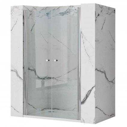 Rea - WESTERN N2 dvoukřídlé sprchové dveře - chrom lesklý, 80 x 190 cm, REA-K9992
