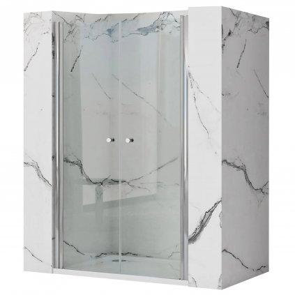 Rea - WESTERN SPACE N2 dvoukřídlé sprchové dveře - chrom lesklý, 90 x 190 cm, REA-K9993