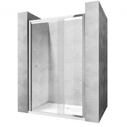 Rea - WIKTOR vyklápěcí sprchové dveře - chrom lesklý, 90 x 190 cm, REA-K0548