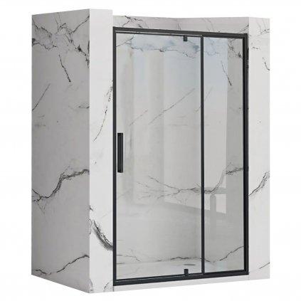 Rea - RAPID SWING jednokřídlé sprchové dveře, černý, 120 x 195 cm, REA-K6413
