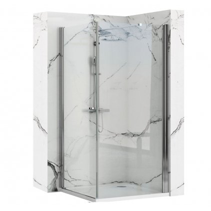 Rea - MAXIM rohový čtvercový sprchový kout 90 x 90 cm, levý, sklo čiré, REA-K0263