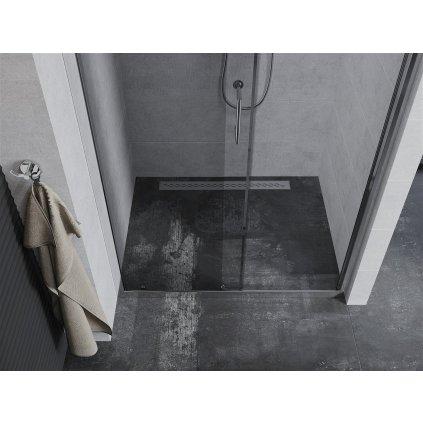 Mexen APIA sprchové posuvné dveře do otvoru 140 cm, 845-140-000-01-00