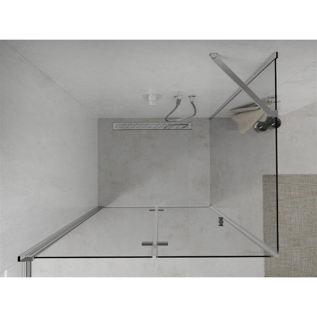 42826 6 mexen lima sprchovaci kut 110x120cm 6mm sklo chromovy profil cire sklo 856 110 120 01 00