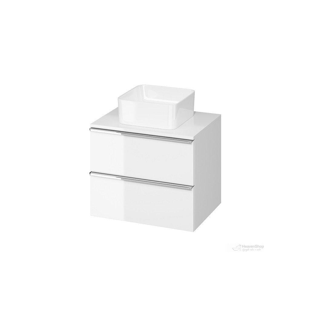 43546 cersanit virgo zavesna skrinka pod umyvadlo s doskou 60cm biela chrom s522 040