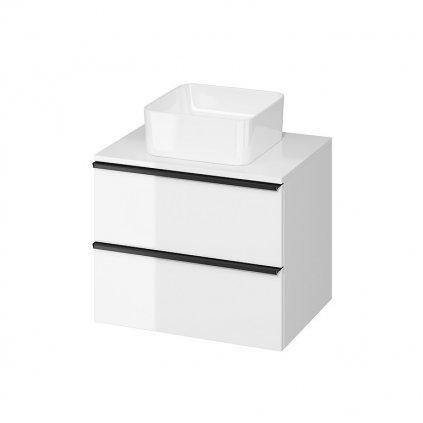 43543 cersanit virgo zavesna skrinka pod umyvadlo s doskou 60cm biela cierna s522 019