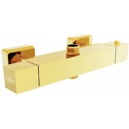 44260 2 mexen cube termostaticka bateria s hornym pripojenim zlata 77250 50