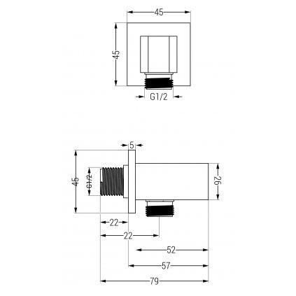 44737 mexen cube podomietkove rohove pripojenie rucnej sprchy 1 2 ruzove zlato 79300 60