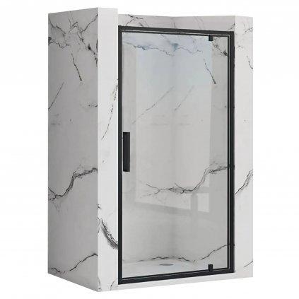 47629 rea rapid swing jednokridlove sprchove dvere cierny 70 x 195 cm rea k6407