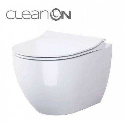 47998 cersanit zen zavesna wc misa cleanon s pomaly padajucim sedatkom biela s701 428