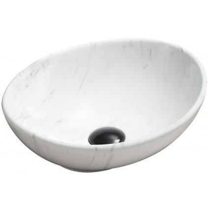 49711 mexen elza umyvadlo 40x33 cm biely kamen 21014092