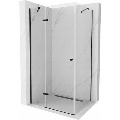 50203 3 mexen roma sprchovaci kut 90x110cm 6mm sklo cierny profil cire sklo 854 090 110 70 00