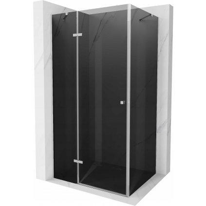 50584 7 mexen roma sprchovaci kut 90x110cm 6mm sklo chromovy profil sede sklo 854 090 110 01 40