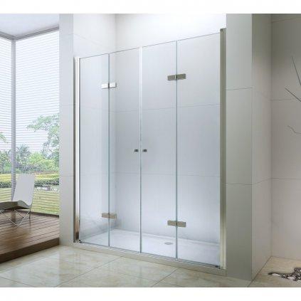 53167 5 mexen lima duo sprchove skladacie dvere do otvoru 200 cm lima duo door 200