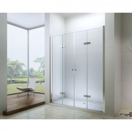 53194 4 mexen lima duo sprchove skladacie dvere do otvoru 140 cm lima duo door 140