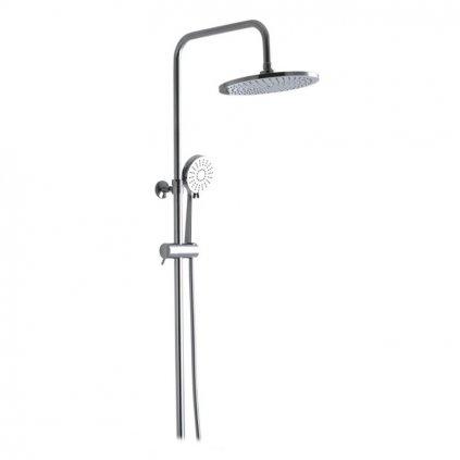 mexen axel zestaw prysznicowy z deszczownica okragla 23 cm chrom 78105 00 77150 005