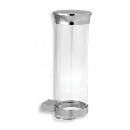 Novaservis - Zásobník na kozmetické tampóny sklo Metalia 9 chróm, 0972,0