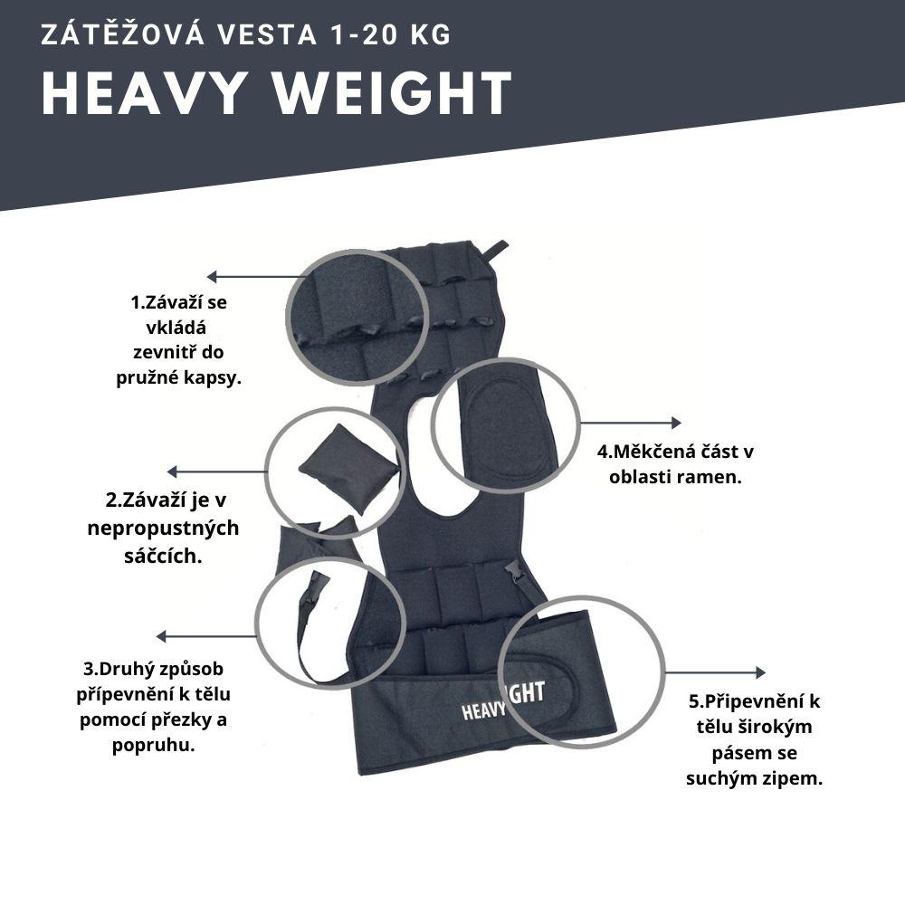 Proč zátěžová vesta Heavy Weight?