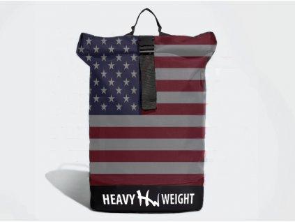 Roll top batoh Heavy Weight s vlastním designem, texturou