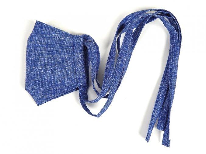 71100590 rouska dvouvrstva modra 2