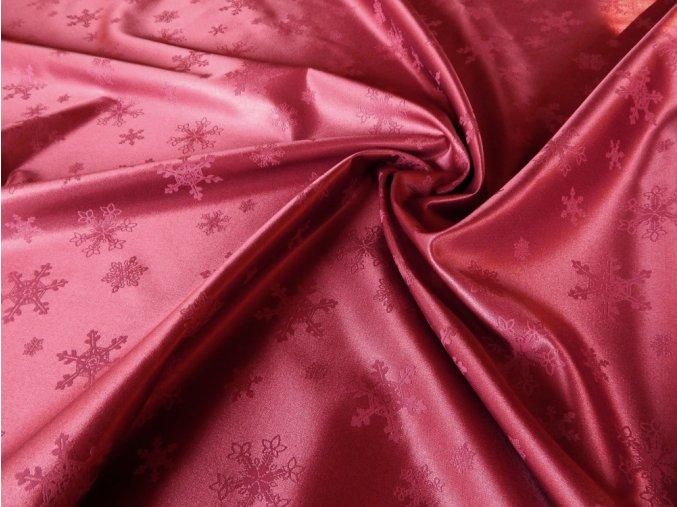 Odaska 163 snowflakes maroon