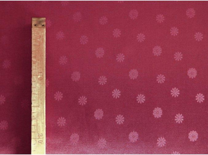 Odaska 163 daisy maroon