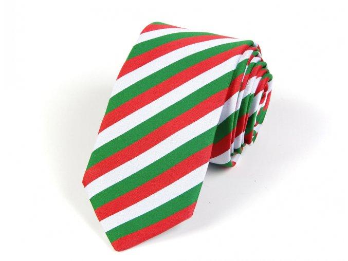51402179 kravata trikolora bila cervena zelena