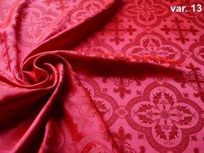 r 6357 13 brokát 51338 cervená 1