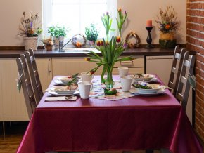 ubrus odaska tulipany puntik vinova 2031225