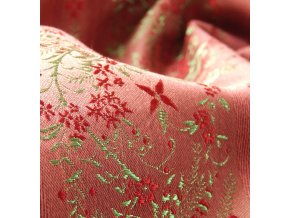 Historic brocade 160 51037 Line floral red/green
