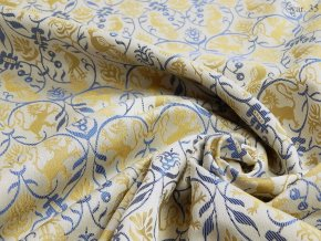 Historic brocade 160 50749 Lions & Peacocks ivory
