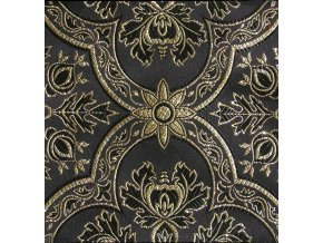 Historic brocade 160 51017 Cloverleaf black