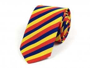 51402182 kravata trikolora rumunsko cervena zluta modra