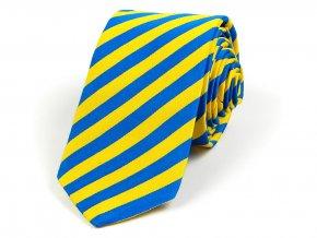 51402192 kravata bikolora svedsko zluta modra