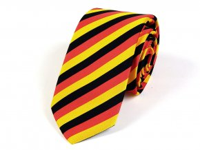 51402183 kravata trikolora zluta cervena cerna
